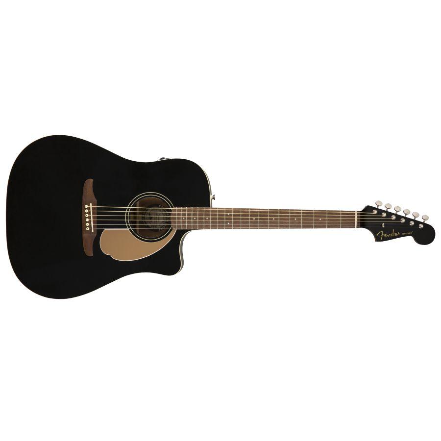 Fender Redondo Player Dreadnought Acoustic Guitar - Jetty Black