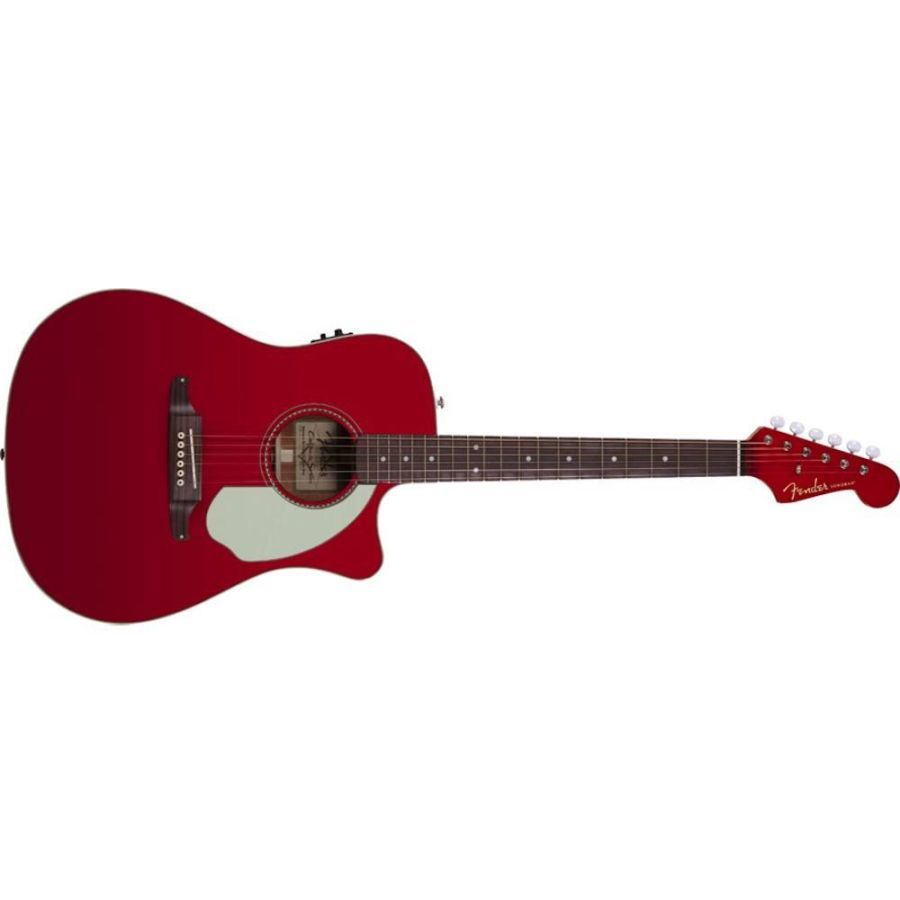 Fender Redondo Player Dreadnought Acoustic Guitar - Candy Apple Red