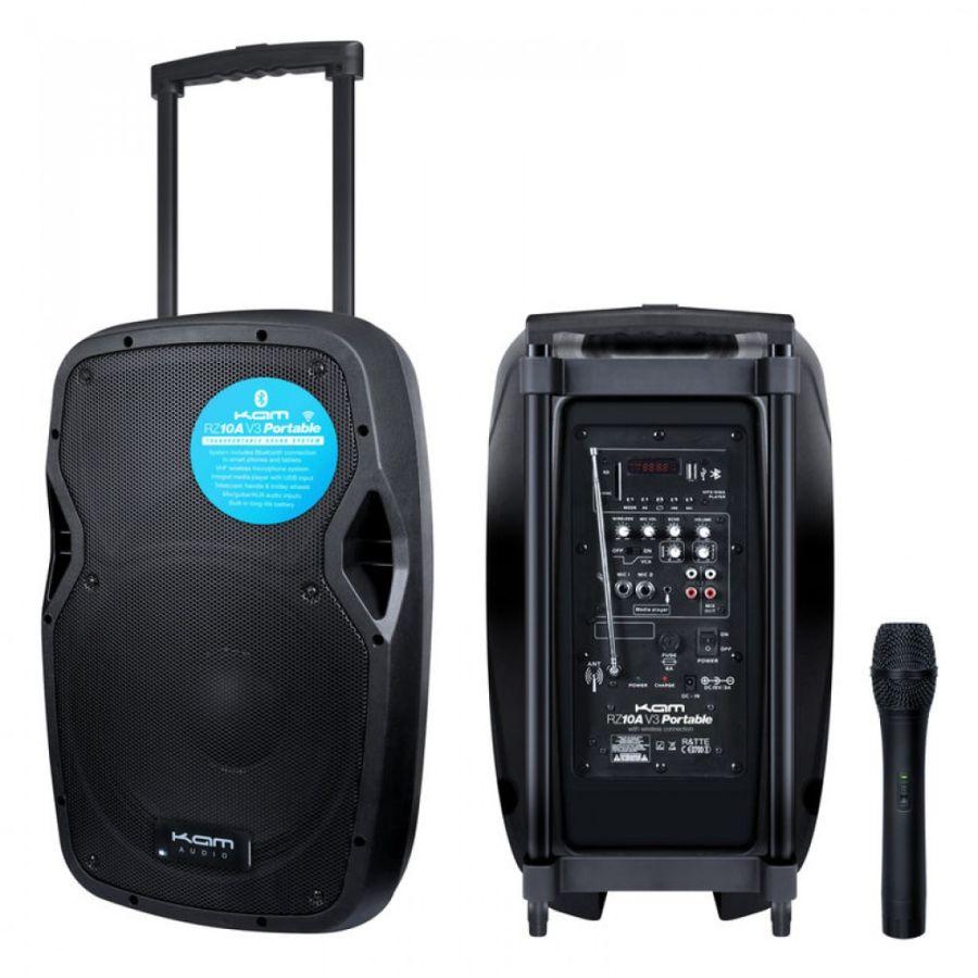 KAM RZ10AP - Portable 10 inch Powered Speaker with Radio Mic