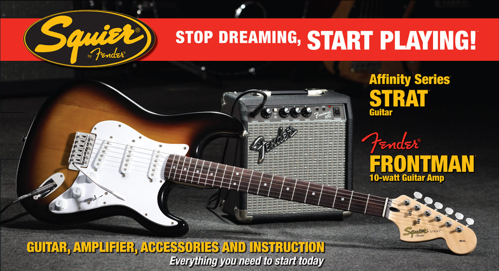 Squier Affinity Strat Pack inc Frontman 10G Amp