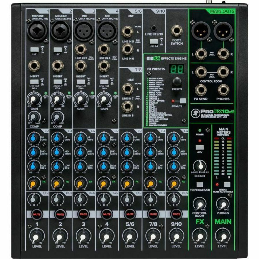 Mackie ProFX10v3 - 10 Channel Mixer with FX and USB