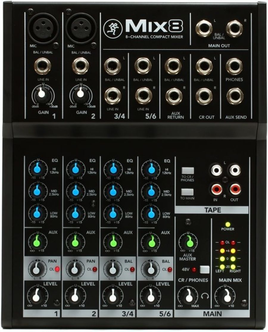 Mackie MIX-8 - Compact 8 Channel Mixer