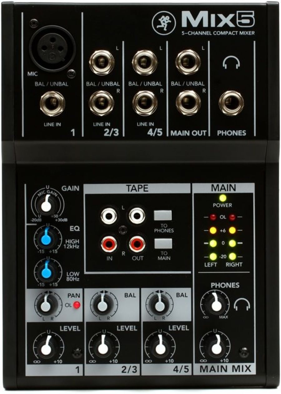Mackie MIX-5 - Compact 5 Channel Mixer