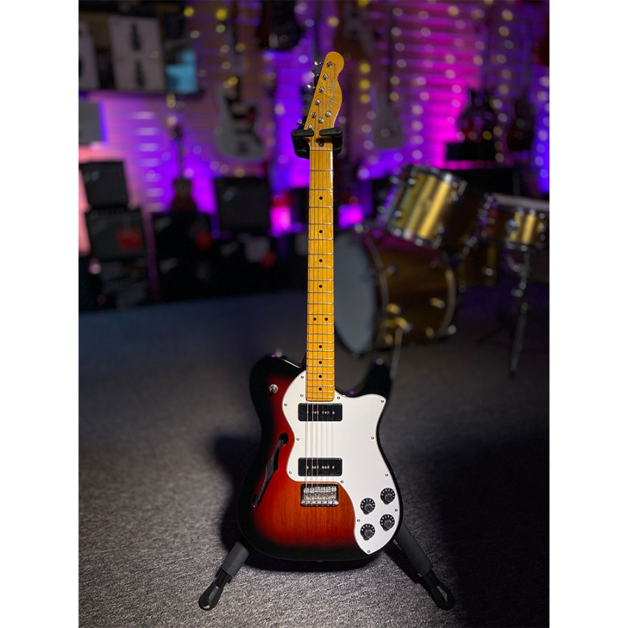 SOLD - Fender Modern Player Telecaster Thinline Deluxe - 3 Tone Sunburst