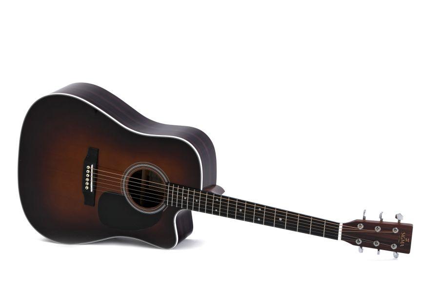 Sigma DTC-1STE-SB+ Dreadnought Acoustic Guitar