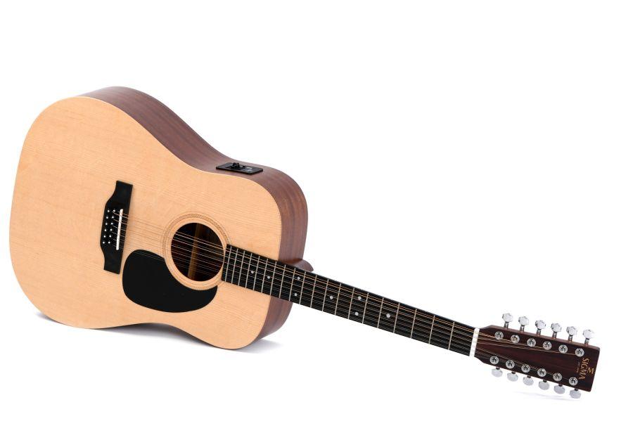 Sigma DM-12E - 12 String Dreadnought Acoustic Guitar