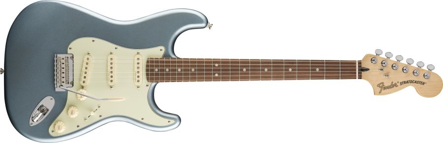 Fender Deluxe Roudhouse Stratocaster - Mystic Ice Blue