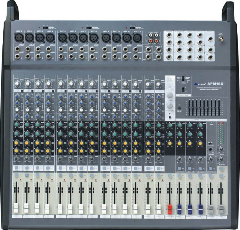 Alto APM160 1500w 16-Channel 2 + 2-Bus Powered Mixer