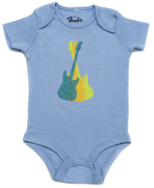 Fender Boys Guitar Trio Onesie