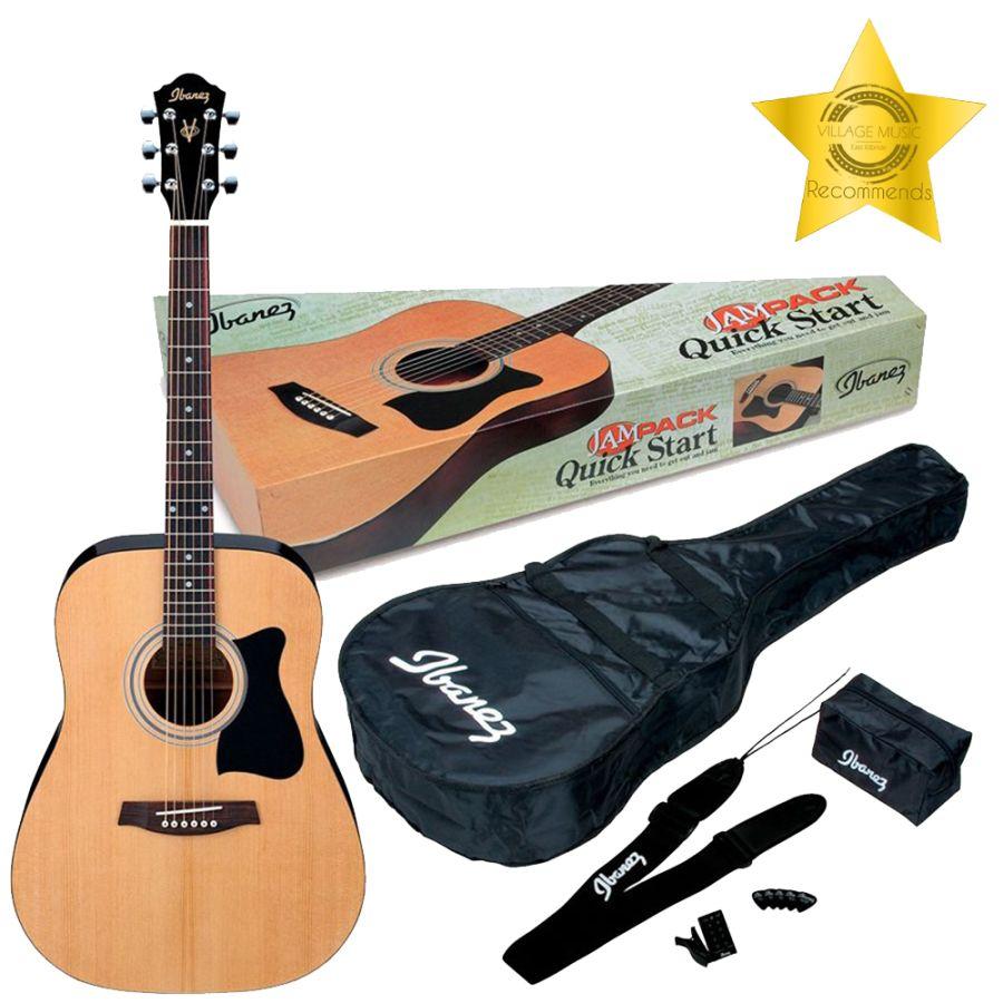 Ibanez V50NJP-NT JamPack - Beginner Acoustic Guitar Package - Natural