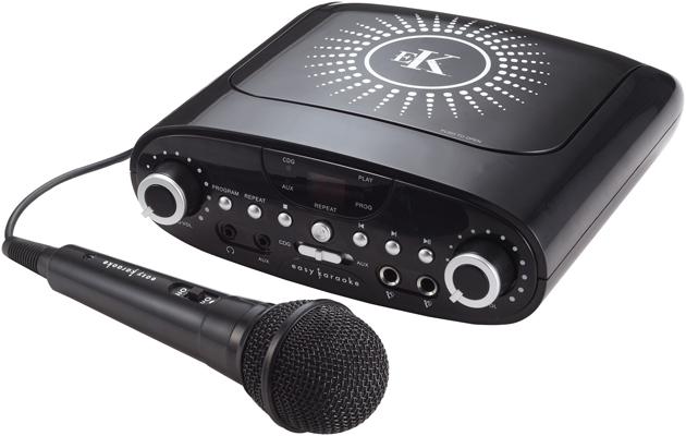 Easy Karaoke EKG88BK  Plug & Play Karaoke Machine with 60 track disc