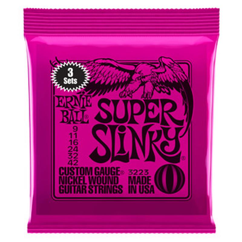 Ernie Ball Super Slinky Triple Pack
