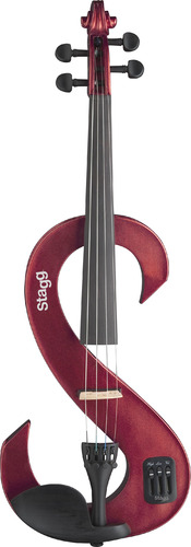 Stagg EVN 4/4 Electric Violin - Metallic Red