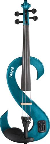 Stagg EVN 4/4 Electric Violin - Metallic Blue