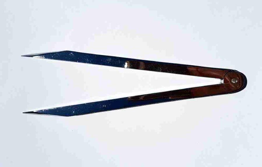 Compasses chrome plated - plain