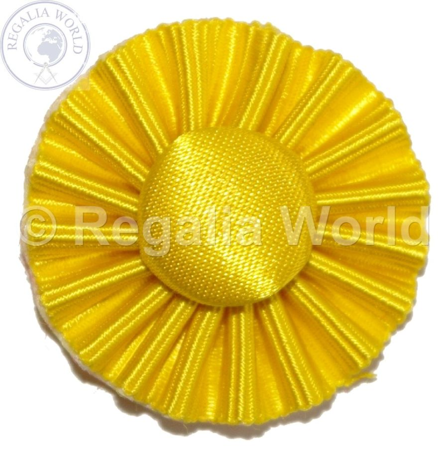 Scarlett Cord Provincial 30mm diameter yellow Rosette