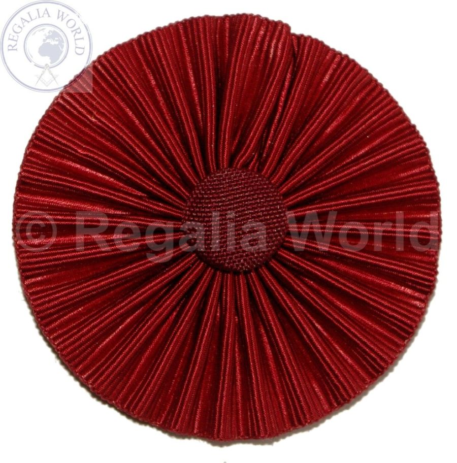 RSM District collarette 60mm diameter maroon rosette