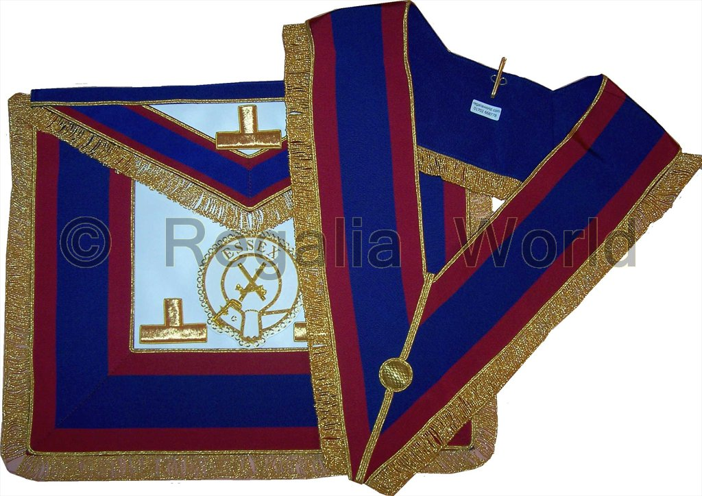 Mark Provincial Full Dress Apron and Collar - lambskin with badge