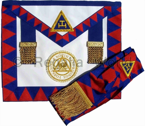 RA Provincial Apron and Sash - lambskin with badge