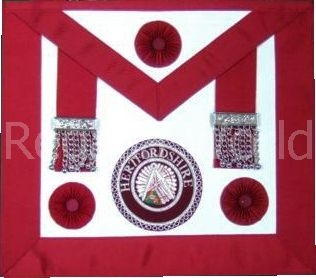 Craft stewards apron with rosettes