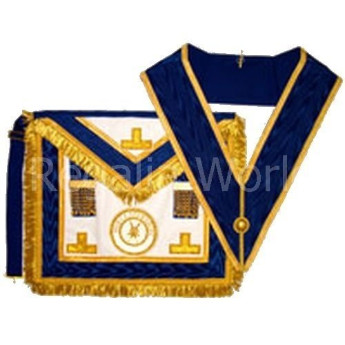 Craft Provincial Full Dress Apron and Collar - lambskin with badge