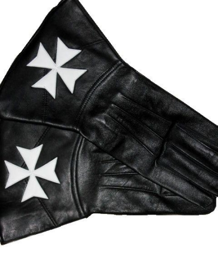 KM Black kid Leather Gauntlets