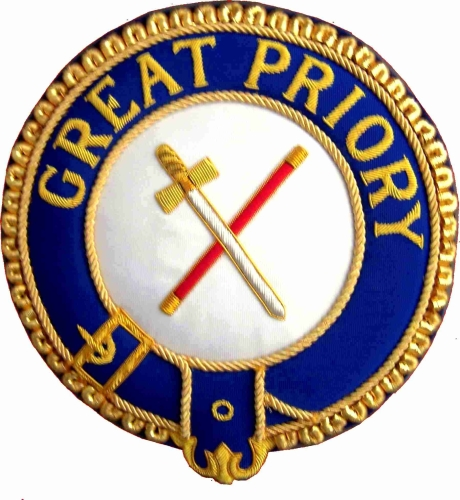 KT Great Priory Mantle Badge