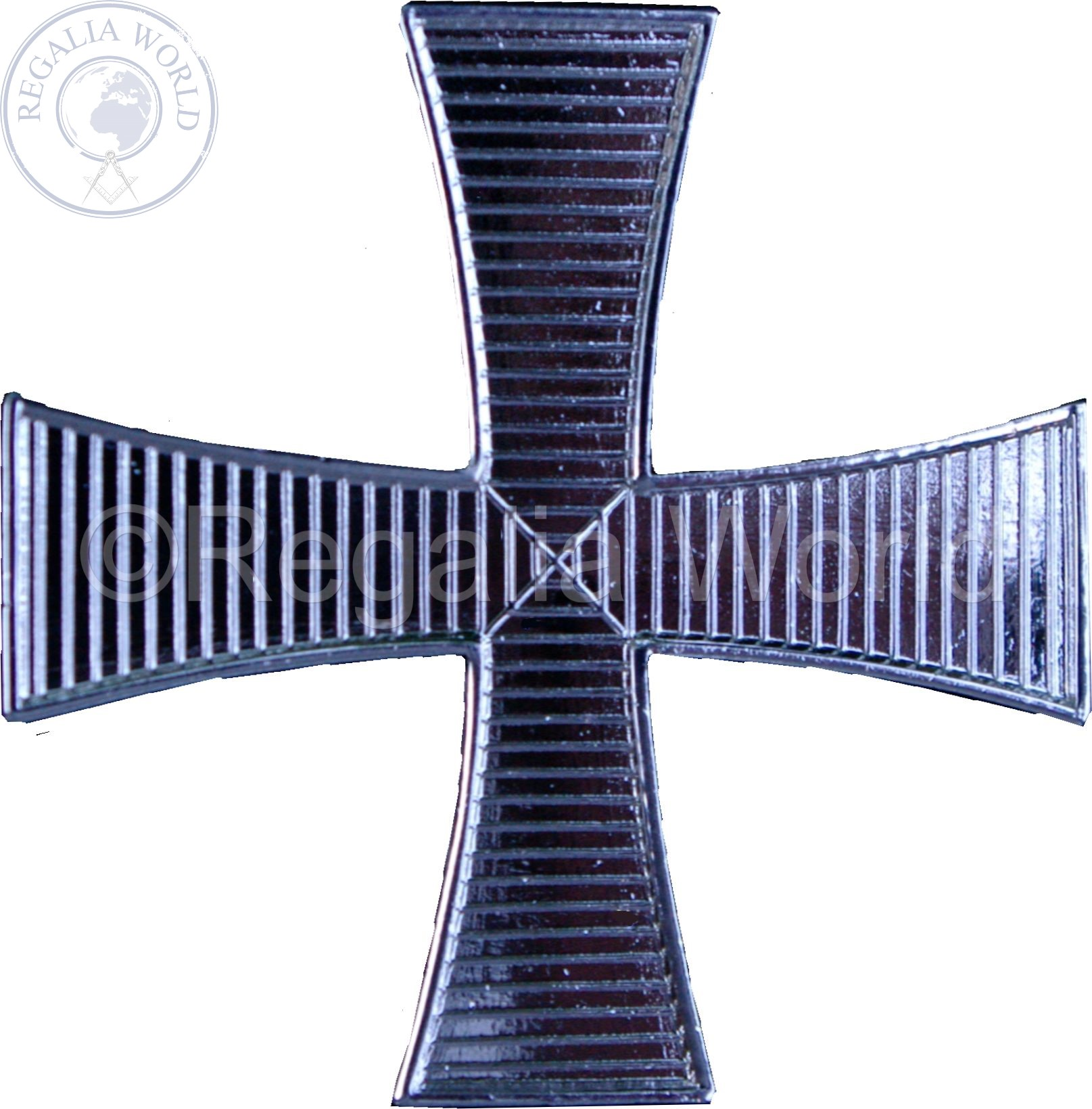 Knight Cap Cross silver plated