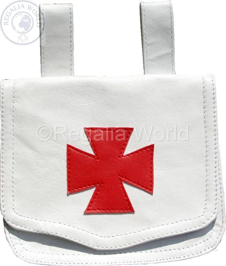 Knights Templar lambskin Alms bag