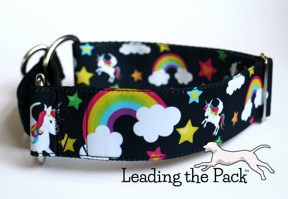 40mm black unicorn collars