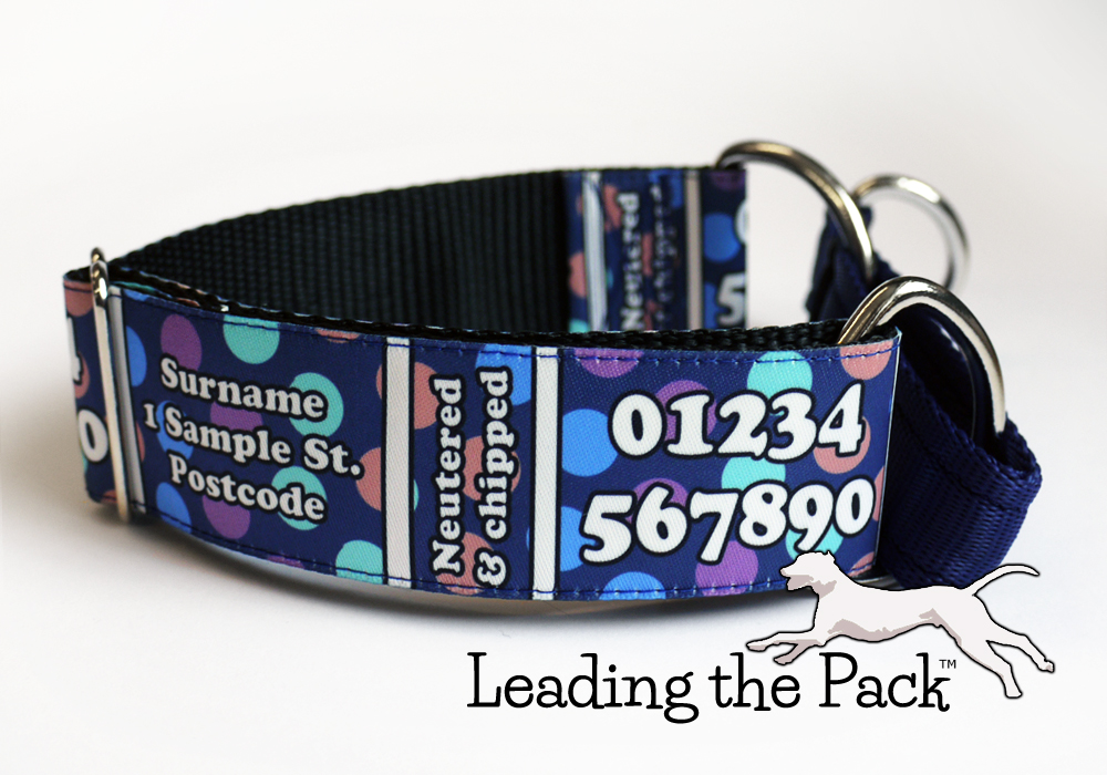 40mm personalised contact details collars