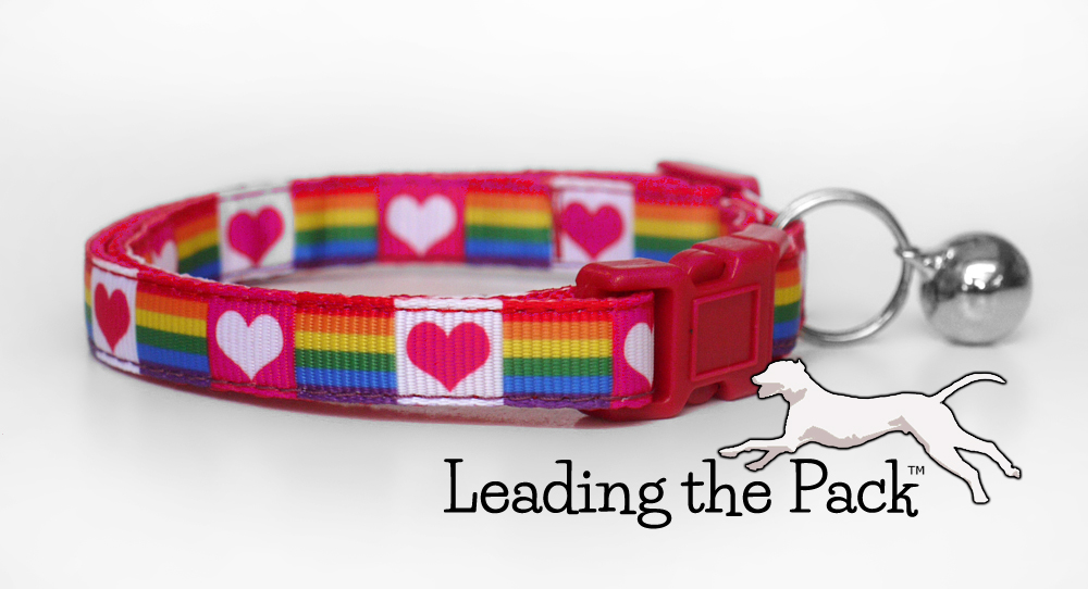 10mm rainbow and hearts collars & leads