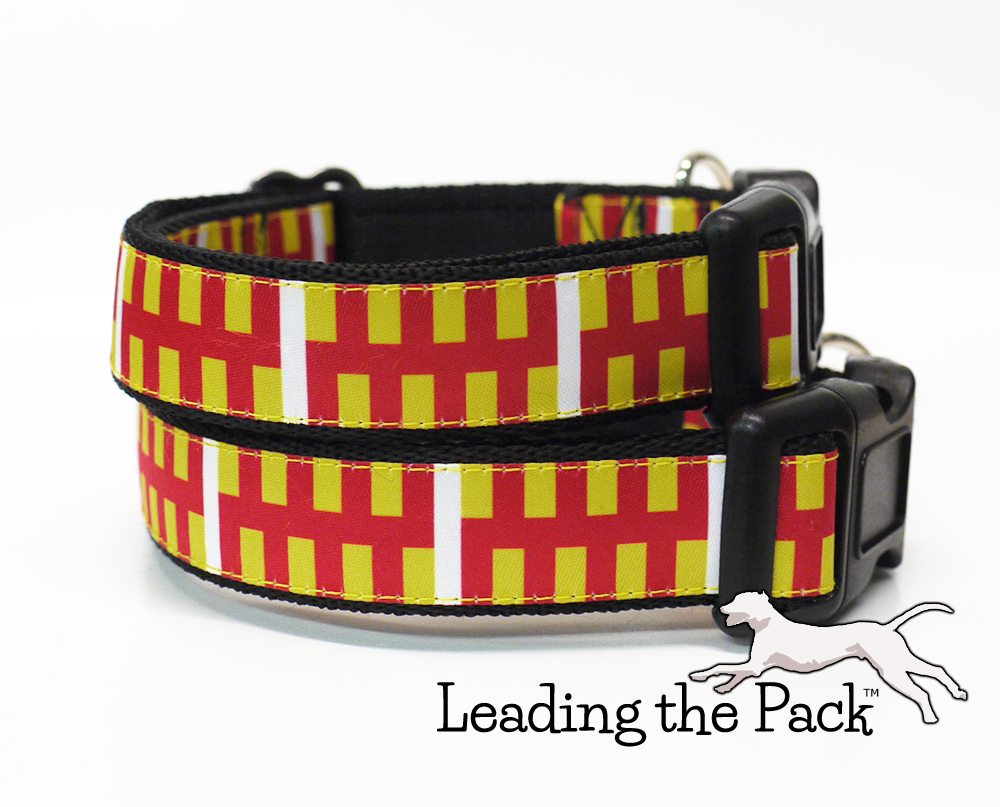 20/25mm Northumberland flag collars & leads