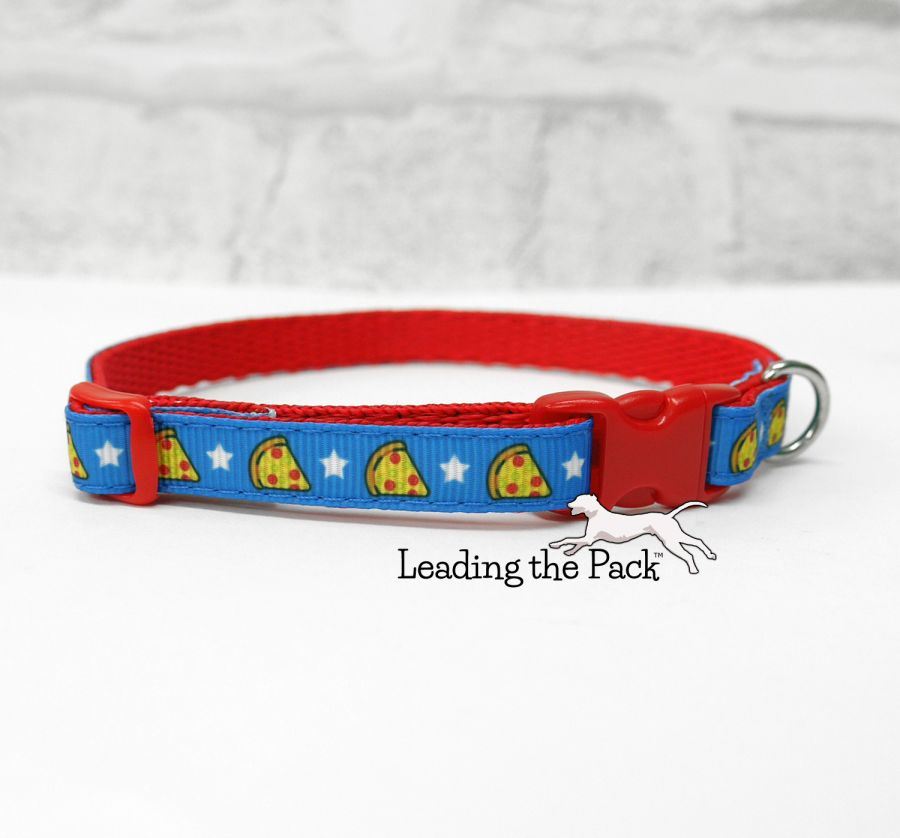 10mm blue pizza collars & leads