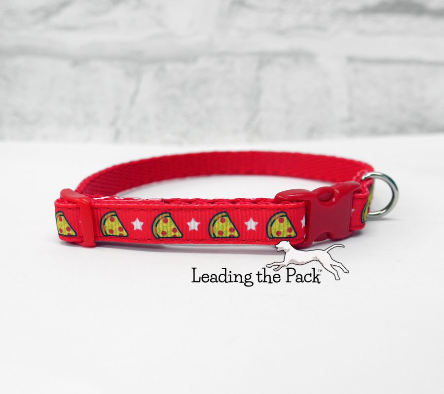 10mm red pizza collars & leads