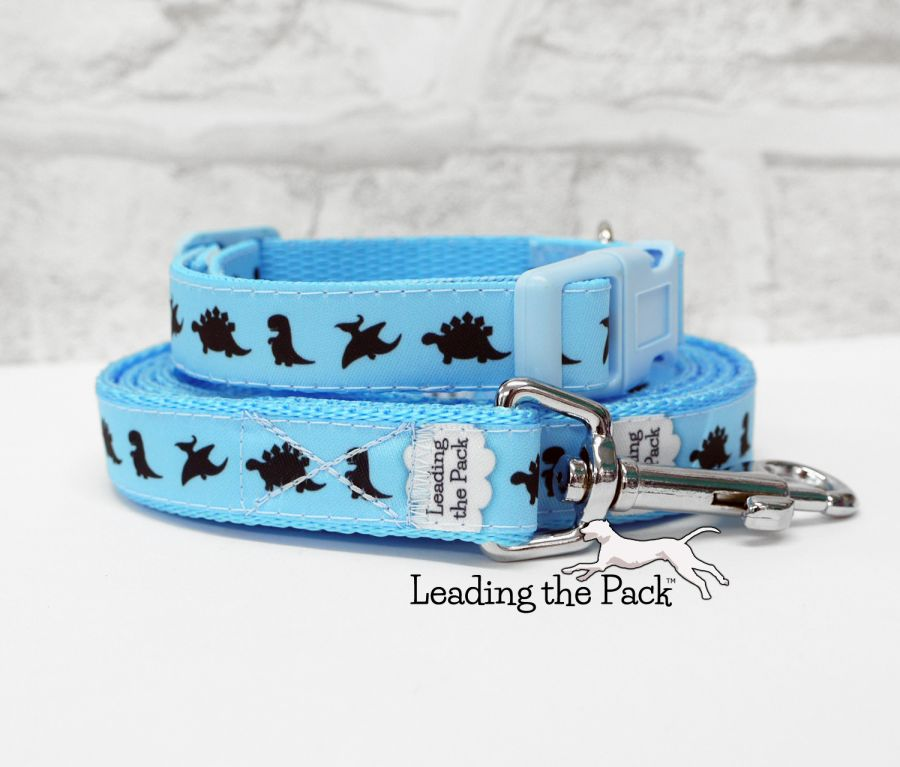 15mm blue dinosaurs collars & leads