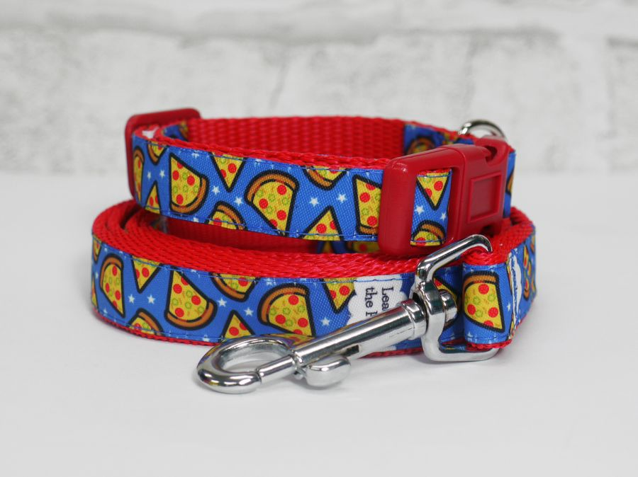 15mm blue pizza collars & leads