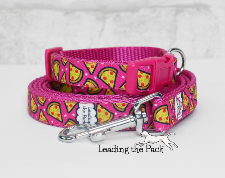 15mm pink pizza collars & leads