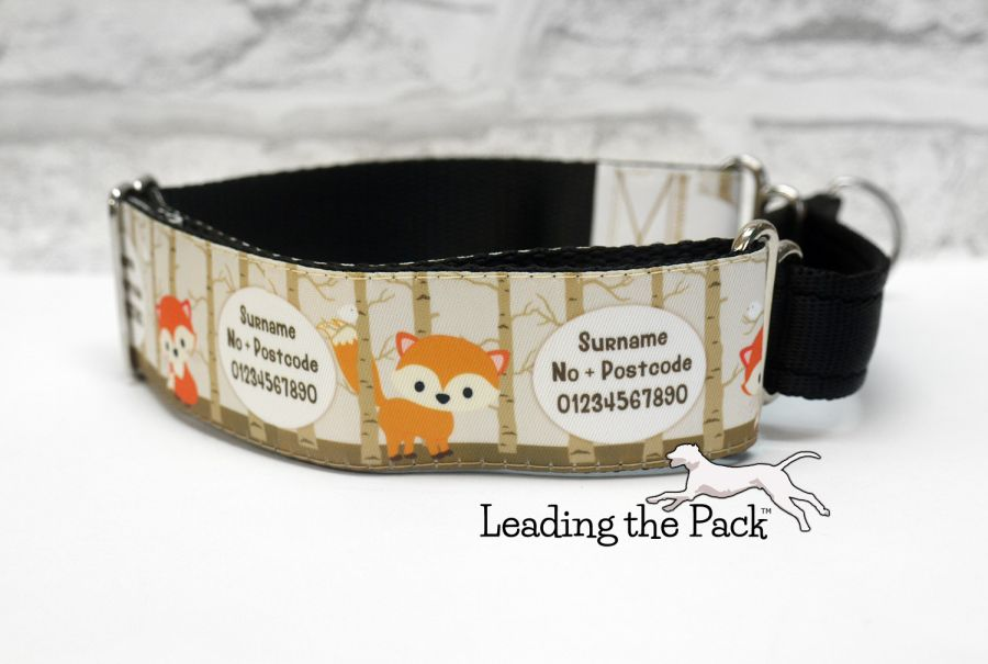 40mm personalised forest fox collars