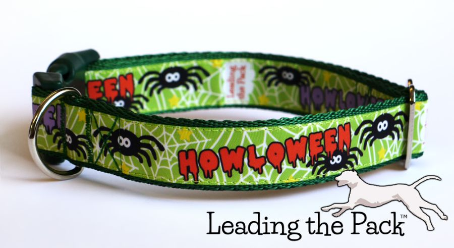20/25mm Howloween green collars & leads