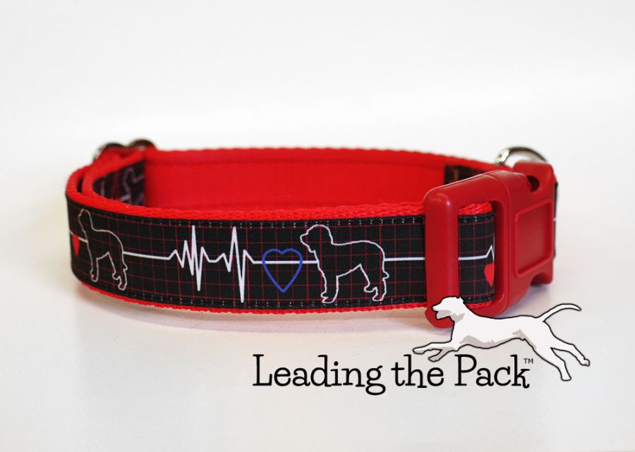 20/25mm doodle heart dog collars & leads