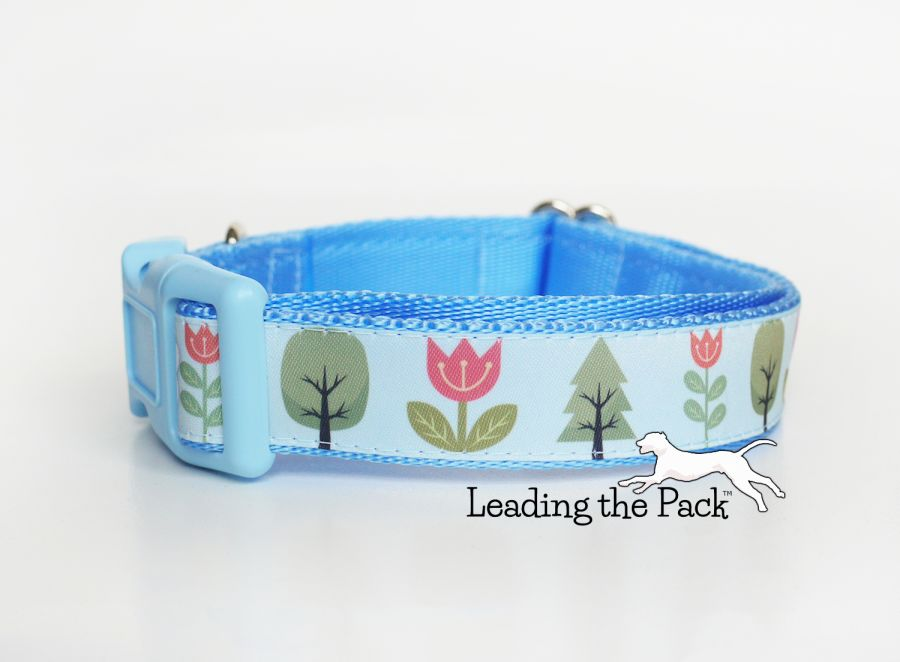20/25mm scandi trees and flowers collars & leads