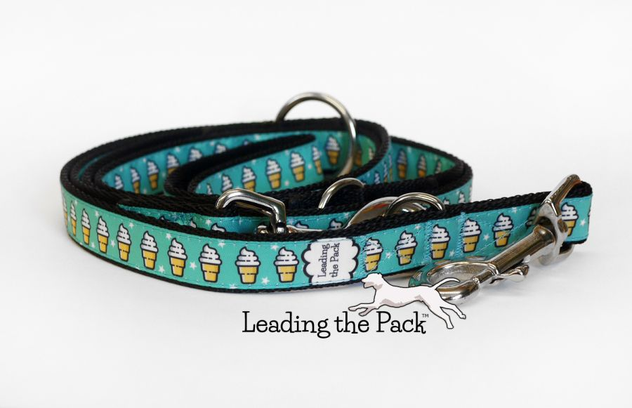 20/25mm ice cream turquoise collars & leads