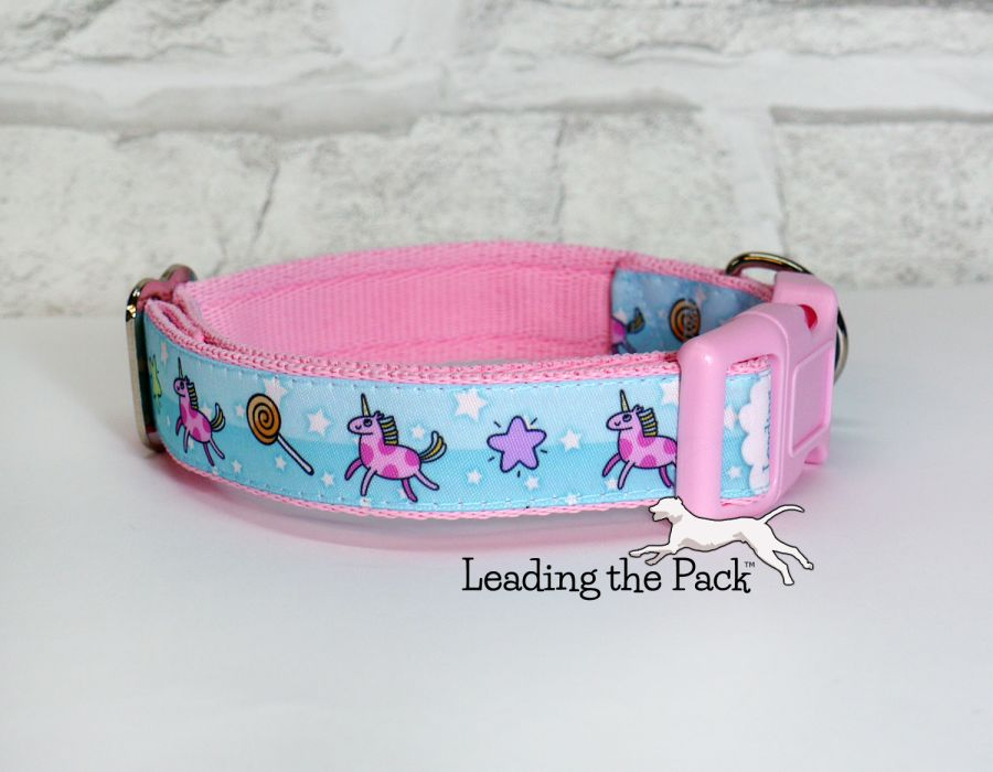 20/25mm funny unicorn collars & leads
