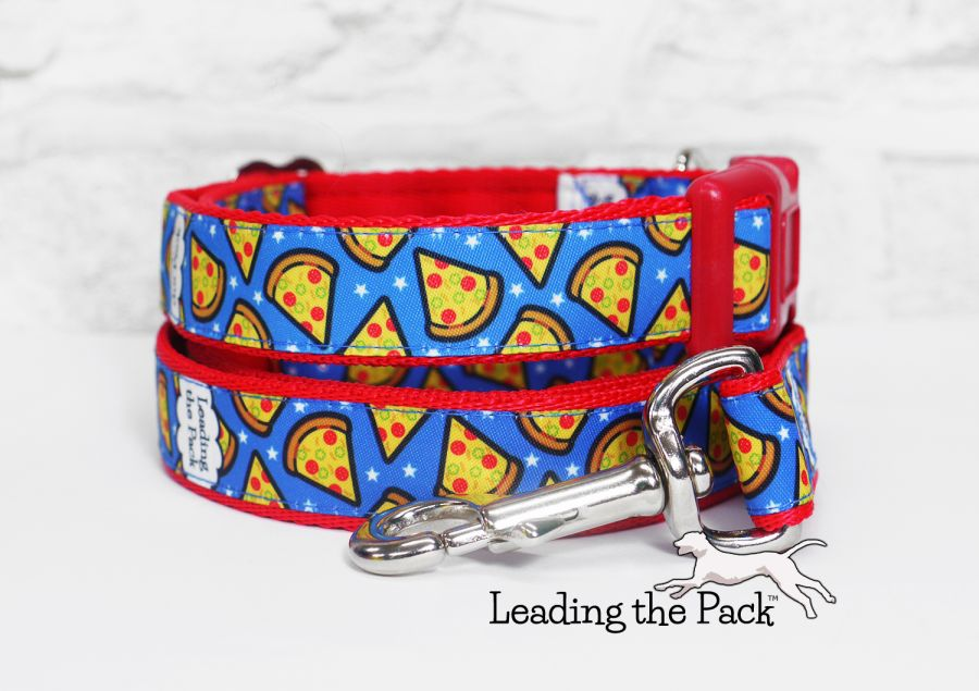 20/25mm blue pizza collars & leads
