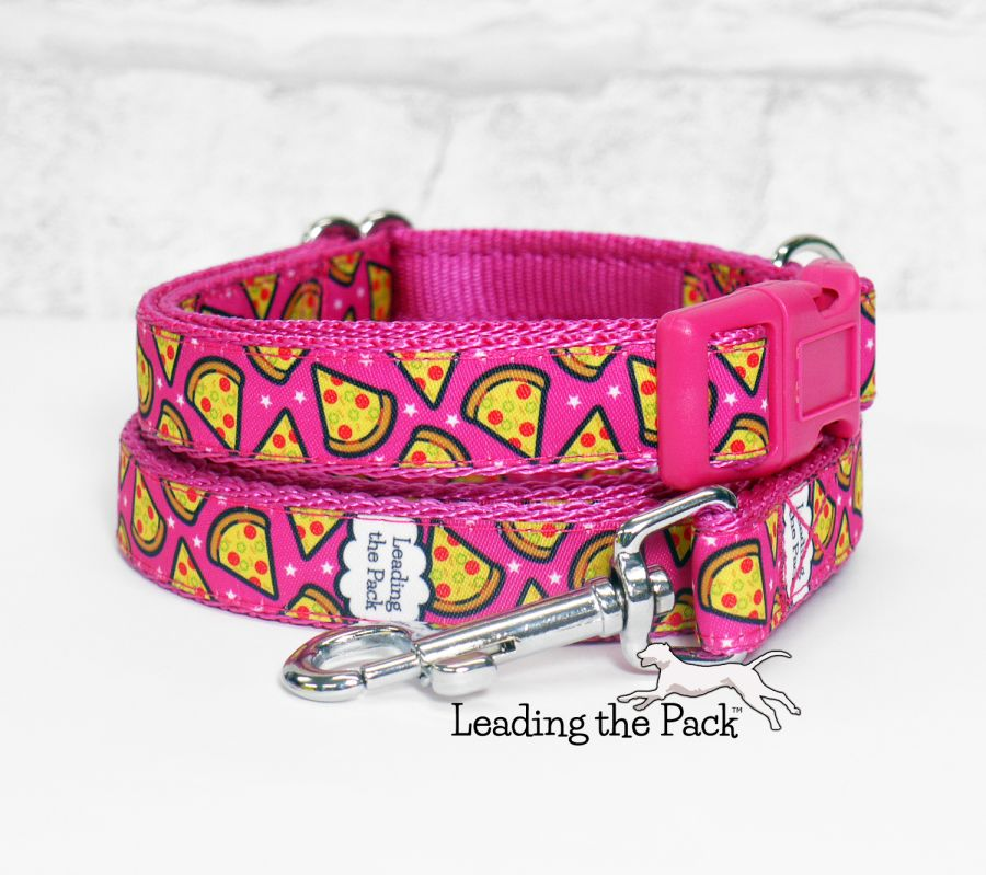 20/25mm pink pizza collars & leads