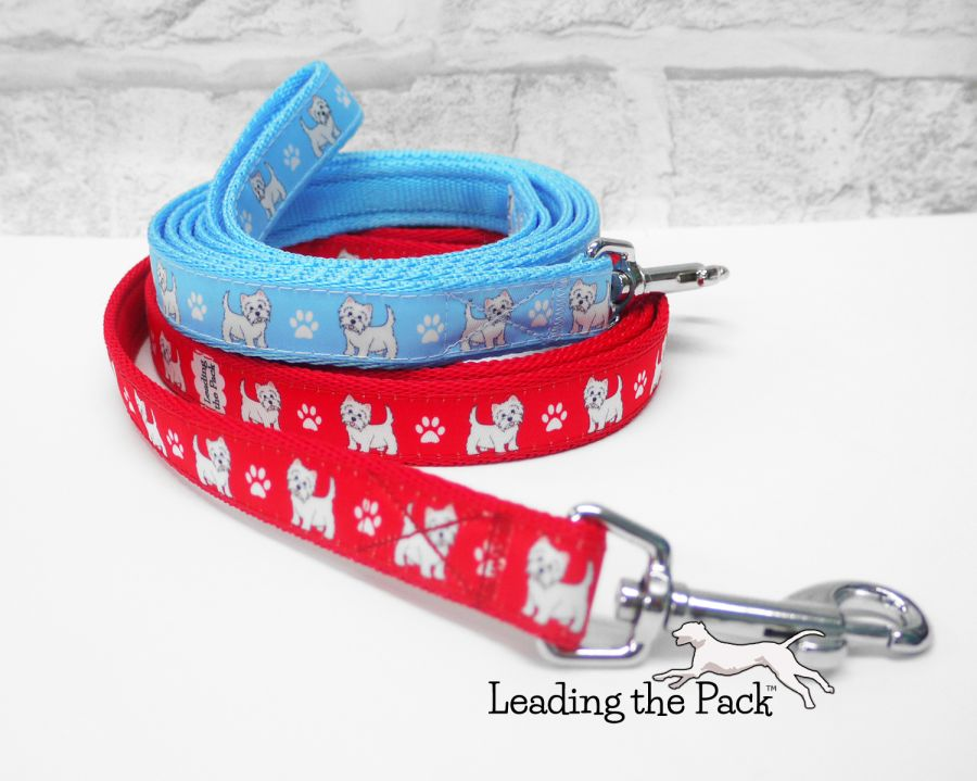 20/25mm west highland terrier collars & leads