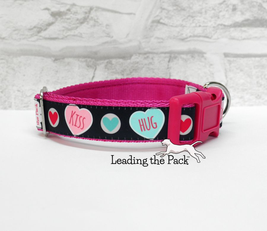 20/25mm love hearts collars & leads