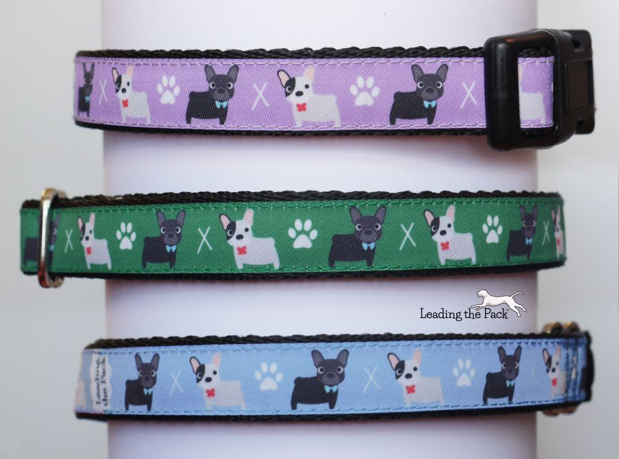 20/25mm french bulldog collars & leads