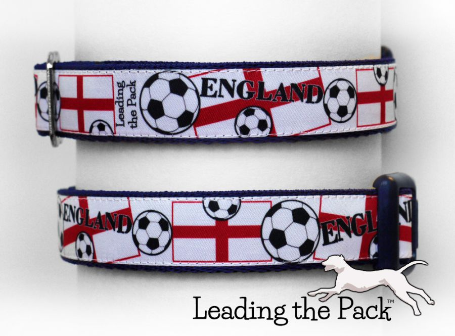 20/25mm England football collars & leads